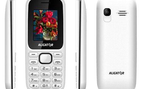 Mobilní telefon Aligator D200 Dual Sim (AD200WB) černý/bílý