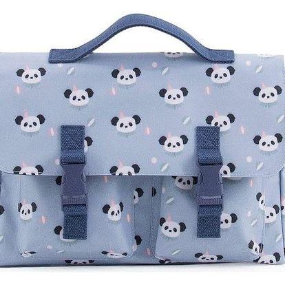 EEF lillemor Školní aktovka Circus Schoolbag Panda, modrá barva, plast