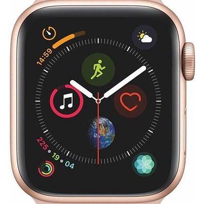 Apple Watch Series 4 GPS 40mm pouzdro ze zlatého hliníku - pískově růžový sportovní řemínek CZ verze (MU682HC/A)