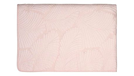 GREEN GATE Prošívaný přehoz Maggie pale pink 140x220, růžová barva, textil
