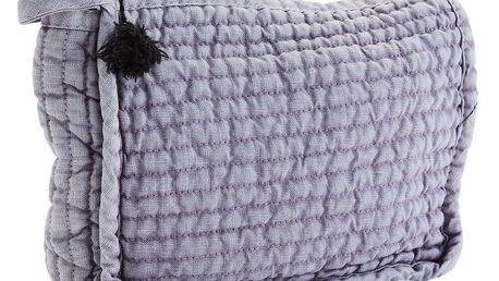 MADAM STOLTZ Kosmetická taštička Linen Lavender, fialová barva, textil