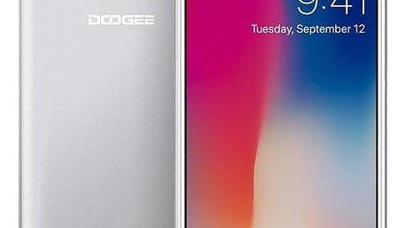 Mobilní telefon Doogee X53 Dual SIM 16 GB stříbrný + dárek (DGE000110)