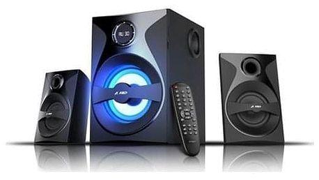 Fenda F&D F380X 2.1, bluetooth, rádio, USB, SD, dálkové ovládání černá (F380X)