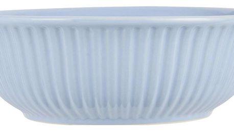 IB LAURSEN Salátová mísa Mynte Nordic Sky Ø 21 cm, modrá barva, keramika