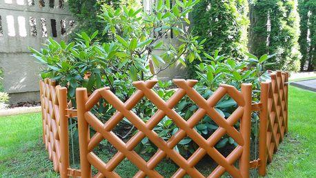 Zahradní plůtek mříž teracota