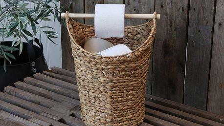 Chic Antique Úložný koš s držátkem na toaletní papír, přírodní barva, dřevo