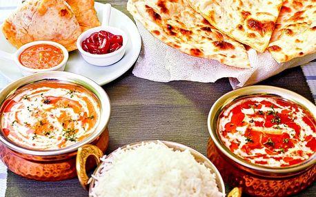 Indické menu dle vaší chuti v hodnotě 300 Kč