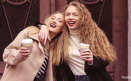 Dvě kávy: cappuccino nebo latté s příchutí