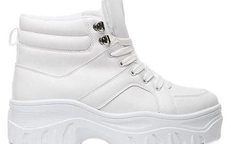 Dámské bílé kotníkové boty Nawra 1837
