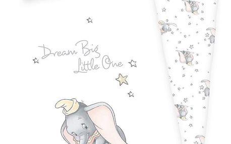 Herding Dětské bavlněné povlečení do postýlky Dumbo, 100 x 135 cm, 40 x 60 cm
