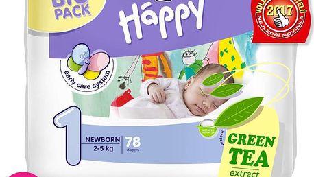 2x BELLA HAPPY Newborn 1 (2-5 kg) Big Pack 78ks - jednorázové pleny