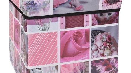 Úložný box Siena růžová, 30 x 30 x 30 cm