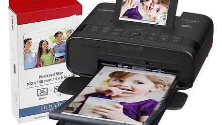 Fototiskárna Canon Selphy CP1300 + papíry KP-36 černá + dárek