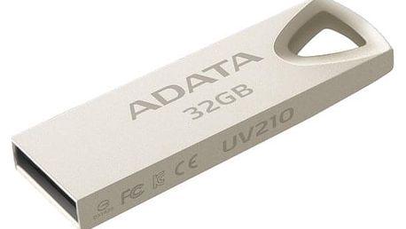 USB Flash ADATA UV210 32GB kovová (AUV210-32G-RGD)