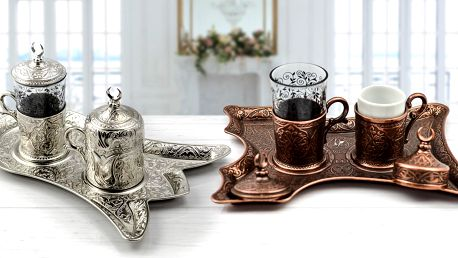 Orientální souprava na podávání čaje nebo kávy