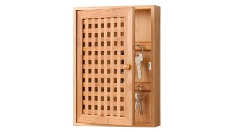 Věšák na klíče - bambusová skříňka, ZELLER