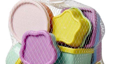 rice Plastové dózičky s víčky Colors - set 12 ks, multi barva, plast