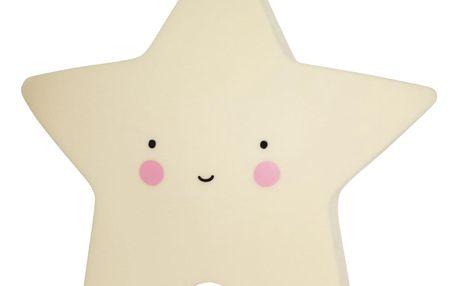 A Little Lovely Company Noční LED lampička Yellow star, žlutá barva, plast