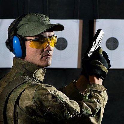 Střelba z 5 zbraní: 35 nábojů i pomůcky v ceně