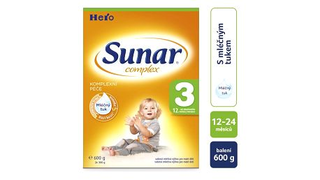 3x SUNAR Complex 3 (600 g) – kojenecké mléko