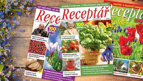 Roční předplatné časopisu Receptář s dárkem