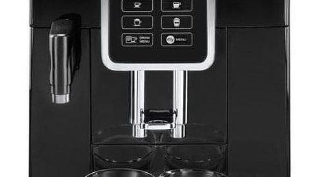 Espresso DeLonghi Dinamica ECAM 350.55 B černé + dárky Příslušenství DeLonghi Skleničky espresso + Káva zrnková DeLonghi Kimbo Classic 250g v hodnotě 358 Kč + DOPRAVA ZDARMA
