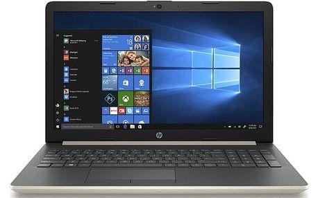 Notebook HP 15-db0031nc zlatý + dárek (4JZ89EA#BCM)