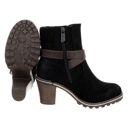 Dámské zimní boty na podpatku