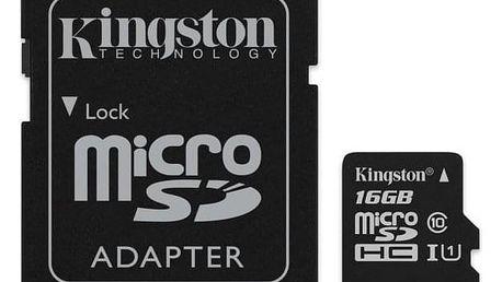 Kingston Canvas Select MicroSDHC 16GB UHS-I U1 (80R/10W) + adapter (SDCS/16GB)