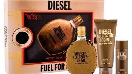 Diesel Fuel For Life Homme dárková kazeta pro muže toaletní voda 75 ml + sprchový gel 100 ml + sprchový gel 50 ml