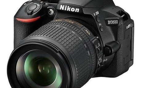 Digitální fotoaparát Nikon D5600 + 18-105 AF-S VR černý