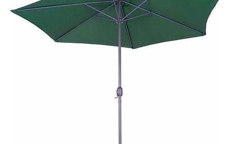 Tradgard 62835 Slunečník s kličkou zelený - 3 m