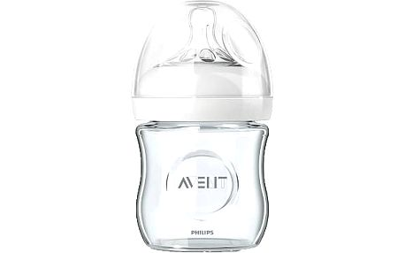 AVENT Láhev 120 ml, 0m+, Natural skleněná