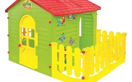 Mochtoys zahradní domek s plotem velký
