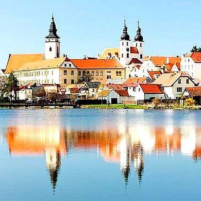 Ubytování se snídaní pro dvě osoby v romantické a historické Telči. Přírodní dědictví UNESCO.