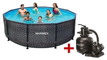 Marimex | Bazén Florida 4,57x1,32 m s filtrací - motiv RATAN | 19900081