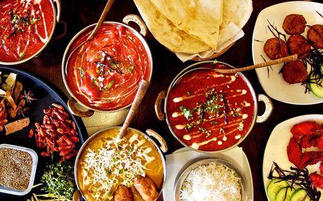 Pestré 3chodové indické menu pro 2 nebo 4 osoby