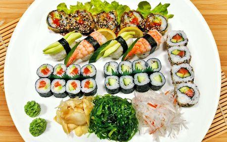 Sushi sety s 29 nebo 39 ks: losos, krevety i úhoř