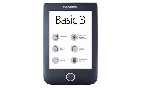 Čtečka e-knih Pocket Book 614+ Basic 3 černá (PB614W-2-E-WW)