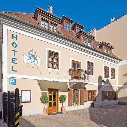 Lázně Győr v hotelu v centru města s celodenním vstupem do termálů a se snídaní