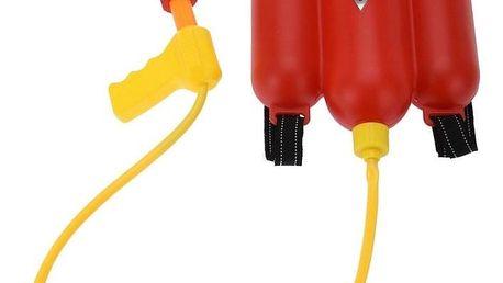 Dětský hasící přístroj na záda, červená