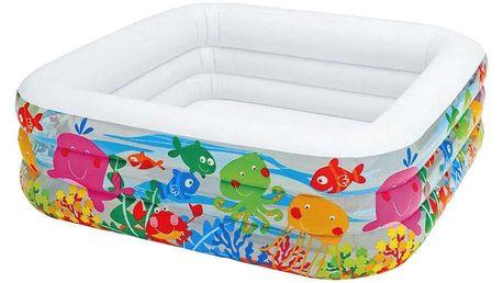 INTEX Bazén dětský nafukovací mořský svět 159x159x50cm 3+