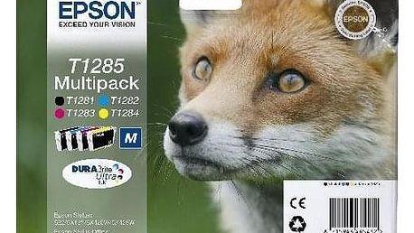 Epson T1285, 16,4ml - originální černá/červená/modrá/žlutá (C13T12854010)
