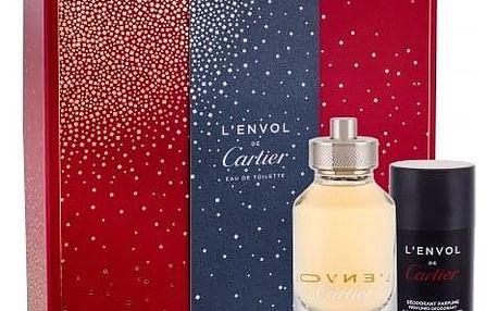 Cartier L´Envol de Cartier dárková kazeta pro muže toaletní voda 80 ml + deostick 75 ml