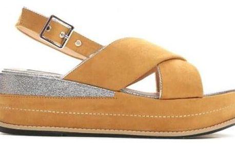 Dámské žluté sandály na platformě Silvia 9212