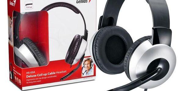 Headset Genius HS-05A černý/stříbrný (31710011100)4