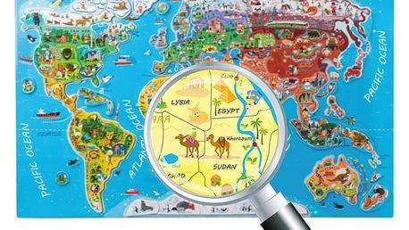 "WOODY Puzzle - Mapa světa ""Orbis pictus"""