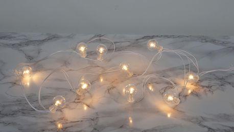 STAR TRADING Světelný LED řetěz Globe/white, bílá barva, čirá barva, sklo, plast