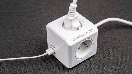 Zásuvka CubeSocket PowerCube - 4 zdířky a 2 USB