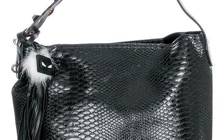 Beiyani Dámská kabelka Snake Angry s třásněmi hadí kůže a přívěsek
